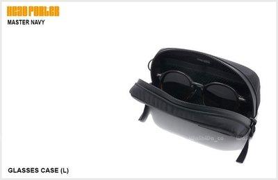 washida PLUS【HEAD PORTER MASTER NAVY 眼鏡袋 太陽眼鏡袋 收納袋】- HP-2841