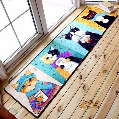 卡通 可愛 喵星人 客廳 臥室 玄關位 地毯 (40CM x 120CM 有現貨)