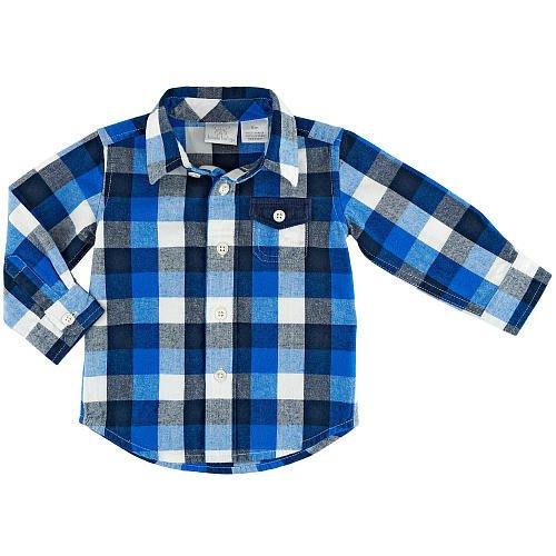 【Nichole's歐美進口優質童裝】Koala Baby 男童 藍色格子長袖襯衫*另有Old Navy/OshKosh