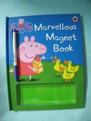 【姜軍府童書館】《Marvellous Magnet Book》無磁鐵卡!Peppa Pig 粉紅豬小妹英語繪本故事英文