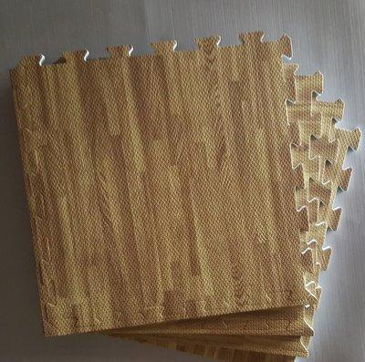 (明珍) EVA 轉印木紋地墊 50*50*1.2公分 (外銷A級品) 力波墊.巧拼墊.運動墊.體操墊.遊戲墊 彰化縣