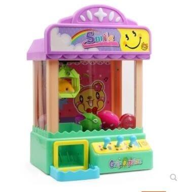 娃娃機 夾娃娃機迷妳 兒童抓娃娃機 小型家用投幣電動公仔機寶寶扭蛋玩具  JD   全館免運