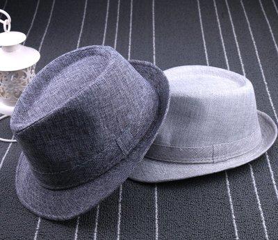 夏天爵士帽英倫紳士帽男禮帽女亞麻草帽