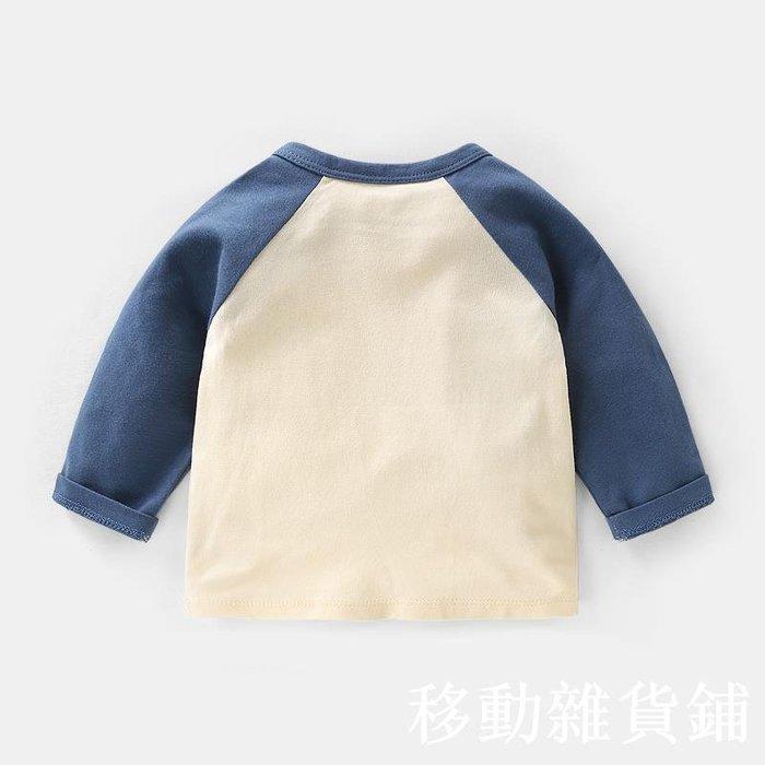 嬰兒衣服男童長袖T恤春秋兒童寶寶女打底衫1歲3上衣秋衣小童ZY076【移動砸貨鋪】