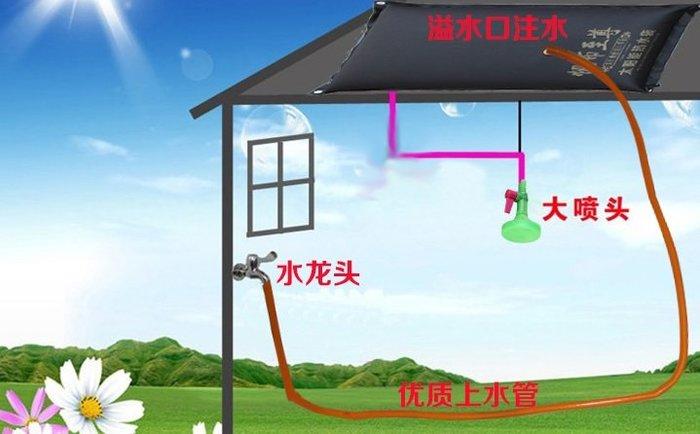 野外露營用太陽能熱水袋120公升