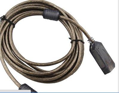 USB公對母延長線 10米高速USB2.0帶信號放大器透明黑接無線網卡 833