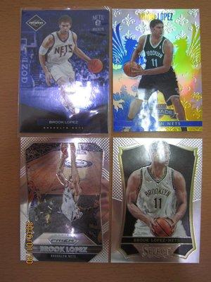 網拍讀賣~Brook Lopez~籃網隊球星~肉配汁~藍版限量卡/299~十字軍~亮面~普特卡~共4張~400元~輕鬆付