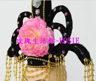 【玫瑰生活館】~ROSIE 華麗古代頭飾, 古裝髮飾 粉紅