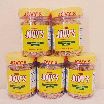 菲律濱長灘島必買jovy's crispy banana chips 香蕉片/香蕉脆片x 1罐7-11或全家取物付款
