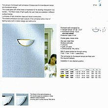德國名牌 LIMBURG WALL LUMINAIRES, UNSHIELDED MODEL NO. 7169