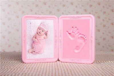 手腳泥印腳印模手足印立體手印泥寶寶印泥嬰兒寶寶紀念品永久兒童