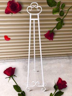 無折扣【華蕊】*鐵製畫架*照片架 居家裝飾 花園造景 花園佈置 庭院佈置 婚禮佈置 會場佈置 花架 低價 促銷 出清