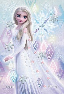 日本進口拼圖 迪士尼 公主 冰雪奇緣 艾莎 70片布面拼圖附珠飾 70-031