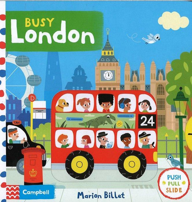 *小貝比的家*BUSY LONDON/BRD/硬頁書/0~2歲