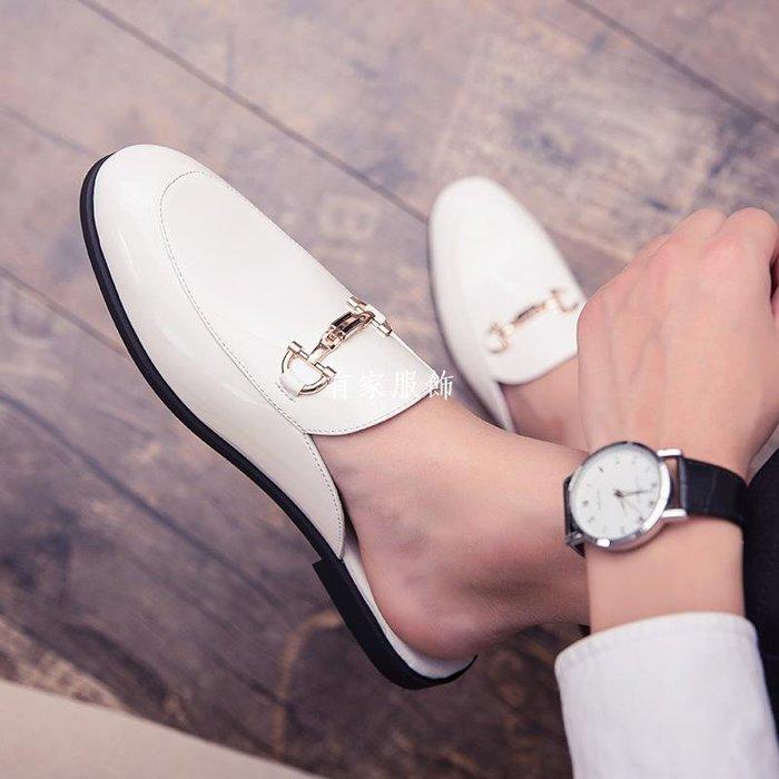 有家服飾夏季網紅拖鞋男休閒時尚外穿半拖個性潮流懶人無后跟涼拖豆豆托鞋