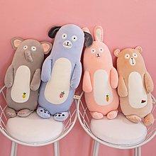 佈谷林~可愛小兔子安撫公仔陪你睡覺抱枕長條枕大號毛絨玩具玩偶床上娃娃
