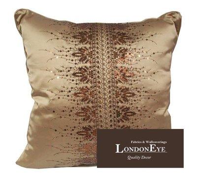 【 LondonEYE 】AMADEUS 阿瑪迪斯 現代混搭X雨珠片設計X緞面混紡  抱枕/腰枕 豪宅 樣品屋 訂製