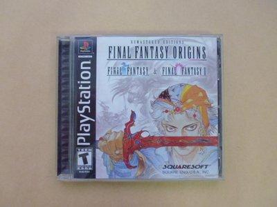 明星錄*2003年美國版FINAL FANTASY ORIGINS二手遊戲光碟=附英文操作手冊(k392)