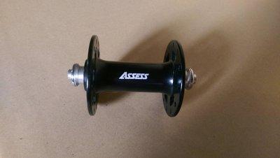 【馬上騎腳踏車】ASSESS 黑色24孔前2培林輕量化簍空鋁花鼓100nm v剎 單速車使用