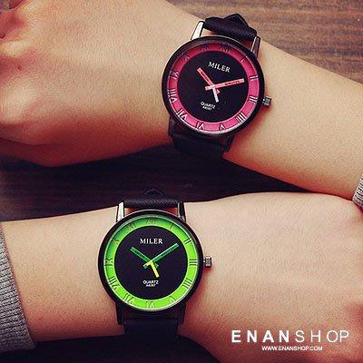 買1送2惡南宅急店【0560F】手錶 糖果色羅馬錶 韓版新品 女錶男錶情侶錶情侶對錶