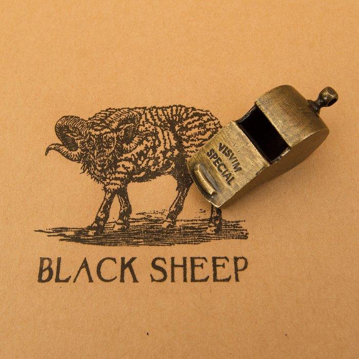 黑羊選物 黃銅 白銅 哨子鑰匙圈 VISVIM復刻 復古 潮流 可吹響 養牛 老味 手感扎實 隨身配件 皮衣配件