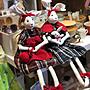 *黑頭小羊雜貨小舖*日本帶回zakka~鄉村風格手工兔子布娃娃/鄉村風格裝飾兔兔造型布偶/手工布偶/手工兔子娃娃(出清特價)深藍洋裝手抱兔兔款