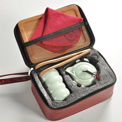 旅行茶具組9件組(1組)-含茶壺茶杯托盤便攜陶瓷茶具組4色73pp499[獨家進口][巴黎精品]