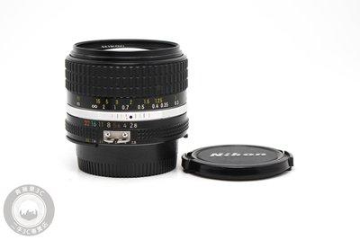 【高雄青蘋果3C】Nikon Ais 28mm f2.8 定焦鏡 手動鏡 廣角鏡 二手鏡頭 中古老鏡 #14696