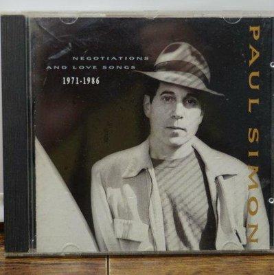 流行音樂/NEGOTIATIONS AND LOVE SONGS/PAUL SIMON/二手CD