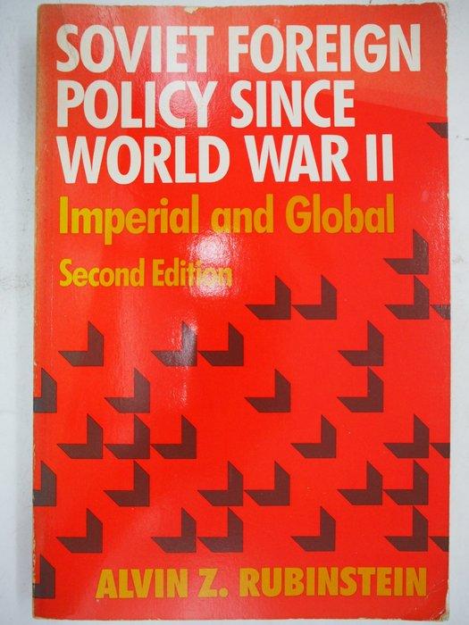 【月界二手書】Soviet foreign policy since World War II_Alvin〖政治〗AJT