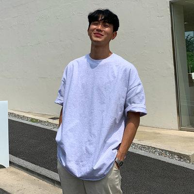 KOREALINE搖滾星球 / 多彩寬鬆純棉素色短T / 7色 / GP3864