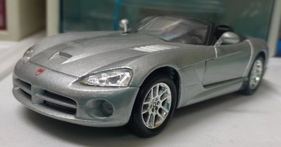 絕版經典Viper Dodge銀蛇號毒蛇號 1/43 1:43仿真金屬模型車 銀色