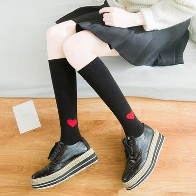 長筒襪子女正韓日系學生中襪小腿襪高筒襪純棉長襪子學院風及膝襪