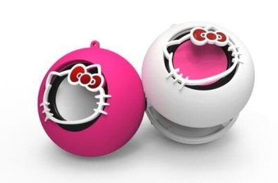 X-mini Hello Kitty Capsule Speakers White and Pink