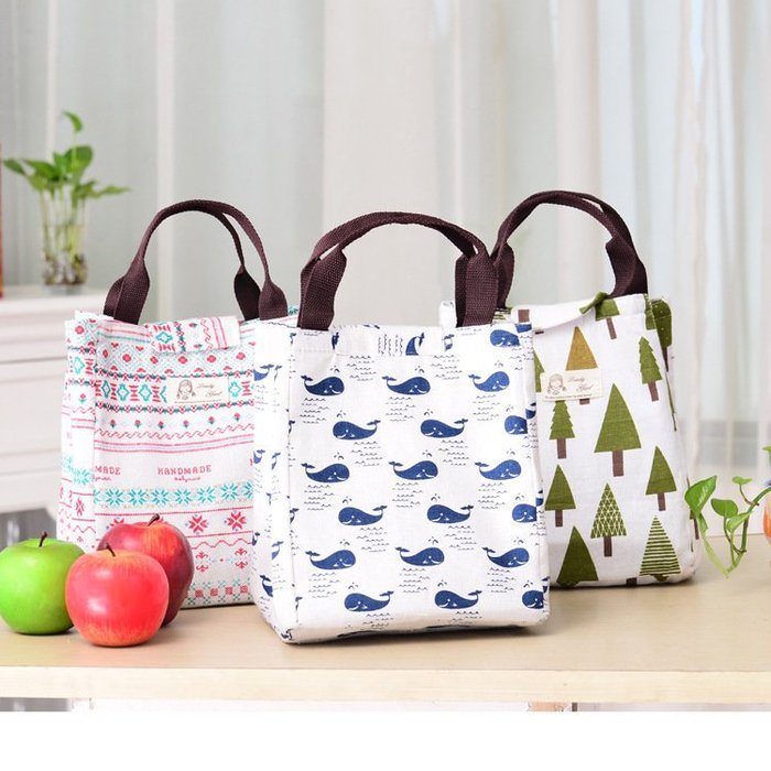 艾莉小舖 Zakka 雜貨 創意時尚便當包防水手提保溫袋保溫包 保溫袋 野餐包 保冷袋 保冰袋 母乳袋(直式)