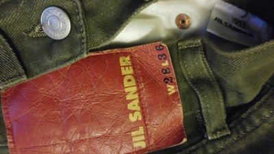 原價三萬多 JIL SANDER 軍綠色直筒牛仔褲