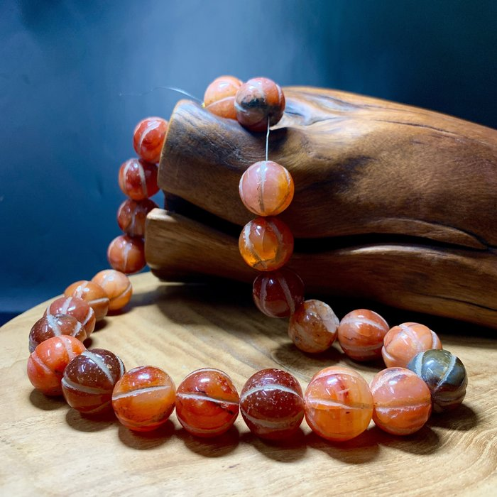 經典瑪瑙古珠 南瓜瑪瑙珠 20mm 手珠 手串
