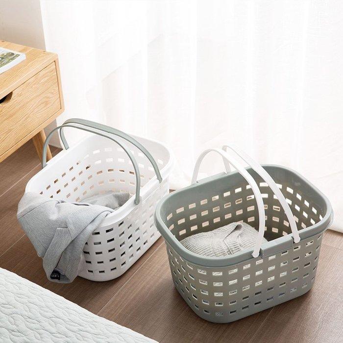 分格 密封 收納架 置物籃塑料手提臟衣籃洗衣籃家用玩具收納筐放臟衣服的籃子收納籃臟衣簍