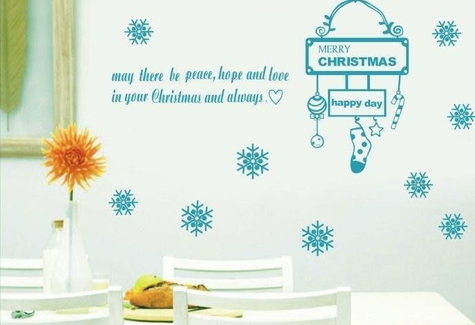 小妮子的家@聖誕祝福壁貼/牆貼/玻璃貼/磁磚貼/汽車貼/家具貼