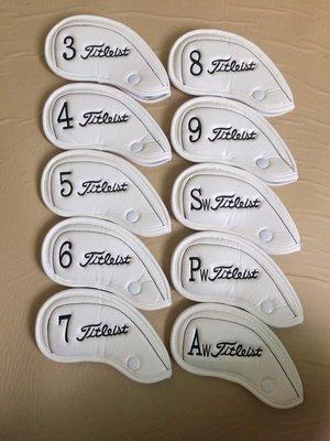 【MOMO精品】新款高爾夫Tit鐵杆套 高檔PU面料10支精裝 高爾夫帽套杆頭套