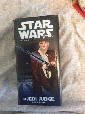 (記得小舖)MLB 紐約洋基 Aaron Judge Jedi 2018年 星際大戰造型紀念公仔 值得收藏 簽名版