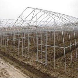 【單體溫室大棚-GP-622-0625】溫室大棚骨架  寬6米長25米間距1米 肩高1.5米頂高2.5米-5101005