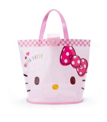 《Amys shop》日本直購~超可愛三麗鷗Hellokitty /美樂蒂/幸運雙子星PVC海灘袋~現貨