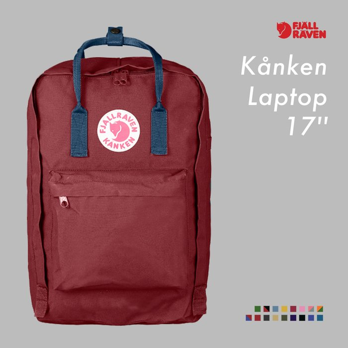 WaShiDa【KN27173】FJALLRAVEN × Kanken Laptop 17'' 色彩 大容量 電腦包