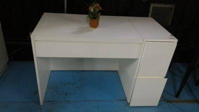 【傢俱銀行】8凱-D20022  烤白 4尺 掀鏡台 單抽 不含椅  另有其他系列寢具組可選擇點選超連結售完為止