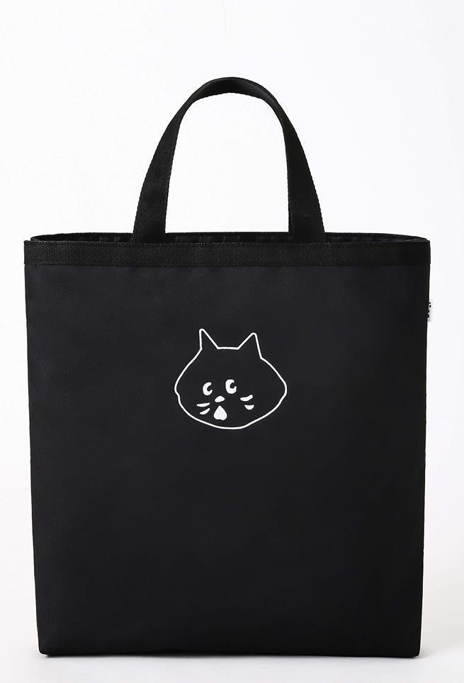 [瑞絲小舖]~日雜Ne-net NYA-小黑貓單品附錄提袋(只有黑色提袋) 托特包 斜背包 肩背包 側背包