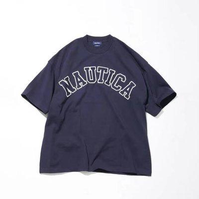 21SS NAUTICA TOO HEAVY ARCH LOGO TEE 長谷川昭雄 短袖T恤 短T