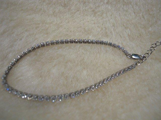 ※水晶玫瑰※ 925純銀水晶鑽造型手鏈(RD128)