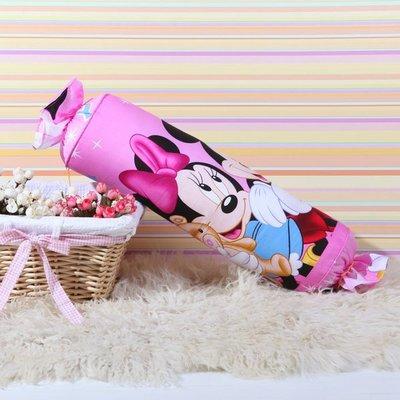 5款 迪士尼 糖果枕 卡通抱枕 全棉靠枕~米妮 Minnie 15~45CM