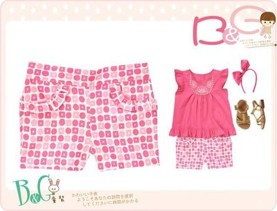 【B& G童裝】正品美國進口GYMBOREE方塊圓圈圖樣粉紅色短褲5yrs